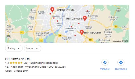 Google My Business Listing in map Suggestion